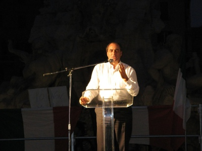 Antonio di Pietro à Rome en 2009 @ondablv